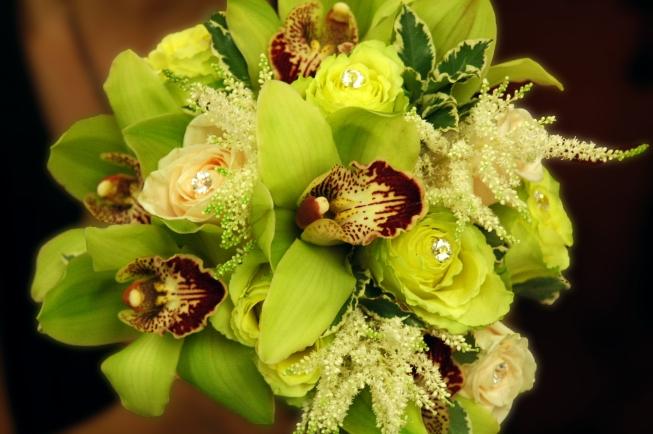 Green Cymbidium Orchids - a lush bouquet