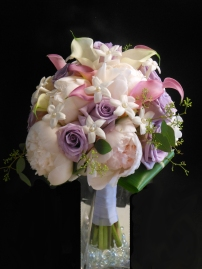 Lavenders and pinks bridal