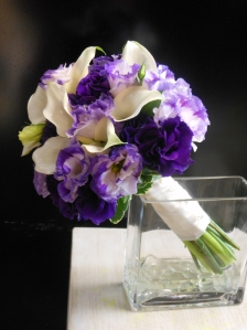 Marifel's Bridal Bouquet featuring callas and lisianthus