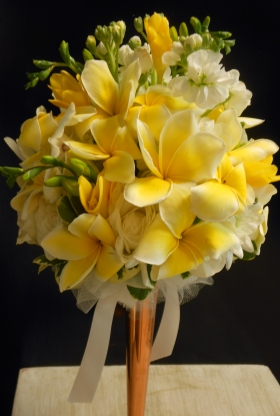 Plumeria bouquet
