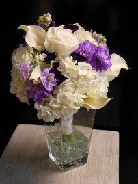 Whites and lavenders with sweet pea
